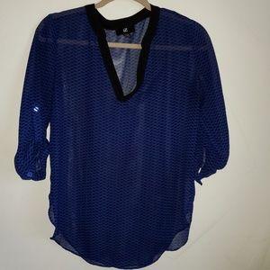 IZ byer semi sheer patterned blouse